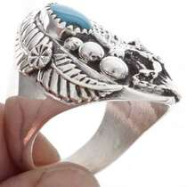 Turquoise Mens Navajo Ring 25087