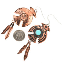 Copper Thunderbird Dangle Earrings 23878