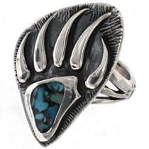 Bear Paw Turquoise  Ring 25501