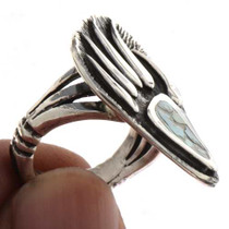 Inlaid Turquoise Silver Ring 25501