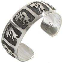 Kokopelli Overlaid Silver Bracelet 10770