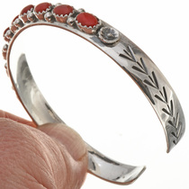 Sterling Gemstone Ladies Cuff 28927