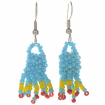 Navajo Seed Bead French Hook Earrings 29381