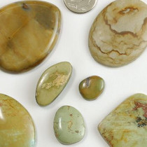 210 carat China Mountain Genuine Turquoise Cabochons Various Shapes