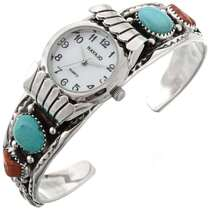 Turquoise Coral Watch Cuff 23013