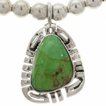 Green Gaspeite Silver Necklace 27845