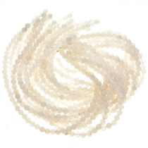 8mm White Quartz Glass Beads 16 inch Strand