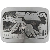 Eagle Kachina Silver Belt Buckle 19051