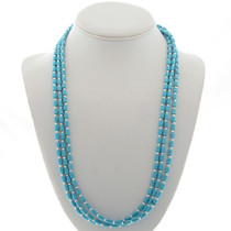 Turquoise Sterling Bead Necklace 24422