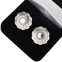 Silver Concho Native American Cuff Links  20841