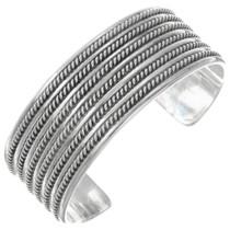 Sterling Silver Navajo Cuff Bracelet 19907