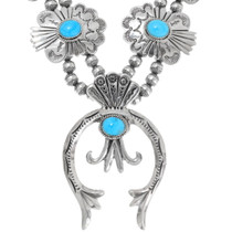 Natural Sleeping Beauty Turquoise Necklace Set 28341