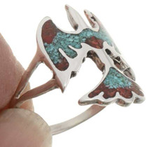 Thunderbird Turquoise Ladies Ring 27083
