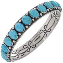 Natural Turquoise Navajo Bangle Bracelet 26068