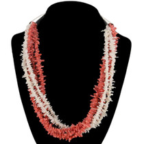 Navajo Branch Coral Necklace 23906
