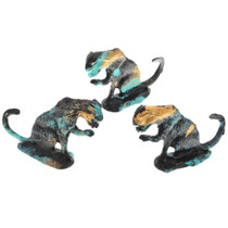 Hand Painted Metal Kitty Cat Statue 13002