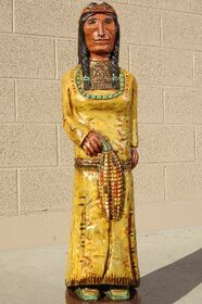 Cigar Store Indian Maiden by Frank Gallagher 3 Footer