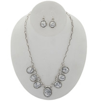 Crazy Horse Howlite Necklace Set 27704