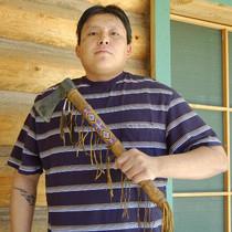 Beaded Buckskin Indian Tomahawk 25486
