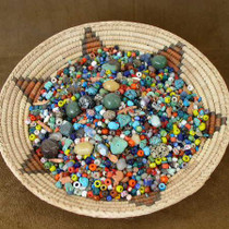One Pound of Assorted Crafters Trade Beads and Gemstones