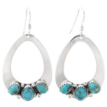 Navajo Natural Turquoise Earrings 27480