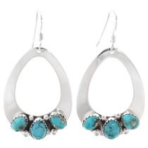 Navajo Natural Turquoise Earrings 27480
