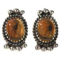 Citrine Silver Post Earrings 28861