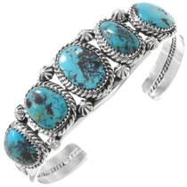 Bisbee II Turquoise Silver Bracelet 23282