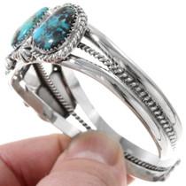 Five Stone Turquoise Navajo Silver Cuff 23282