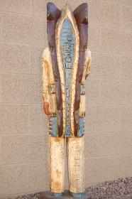 Four Foot Tall Indian Wood Sculpture 34002