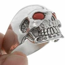 Silver Skull Mens Ring 26736
