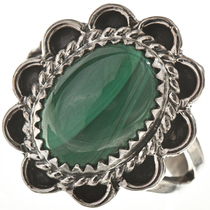Malachite Silver Ladies Ring 28612