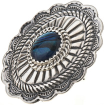 Paua Shell Silver Concho Ring 28904