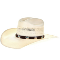 Turquoise Silver Concho Hatband 29326