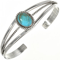 Turquoise Sterling Ladies Navajo Cuff 20673