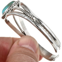 Navajo Cuff Sterling Turquoise Bracelet 20673