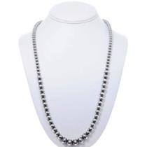 Navajo Silver Beaded Necklace 24805