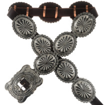 Hammered Silver Concho Belt 25644