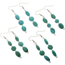 Natural Turquoise Dangle Earrings 28258