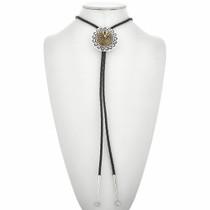 Navajo Gold Silver Bolo Tie 29574