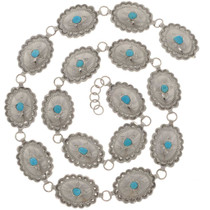 Turquoise Silver Native American Concho Belt 23630