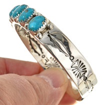 Navajo Silver Turquoise Mens Ladies Cuff 25654