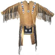 Plains Indian Beaded Buckskin Mens Outfit