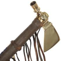 Smokable Ceremonial Brass Peace Pipe 26888