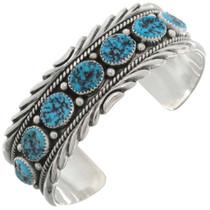 Kingman Turquoise Silver Cuff 12753