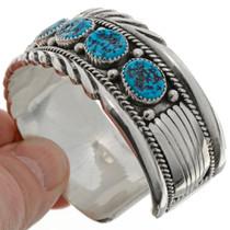 Kingman Turquoise Cuff Bracelet 12753