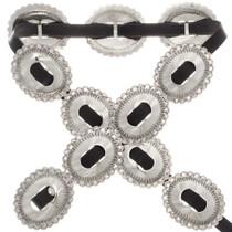 Navajo Silver Full Size Concho Belt 23891