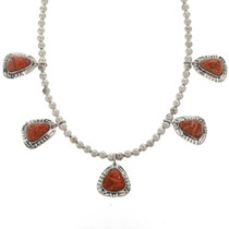 Native American Coral Necklace 27732