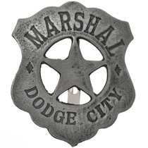 Marshal Dodge City Silver Badge 29194