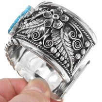Mens Turquoise Silver Cuff Bracelet 18907